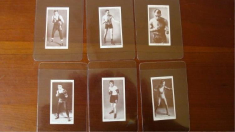 6 Churchman c1938 Boxing Cards EX-Mint