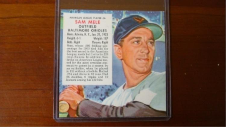 1954 Red Man w/out tab Sam Mele Orioles Variation