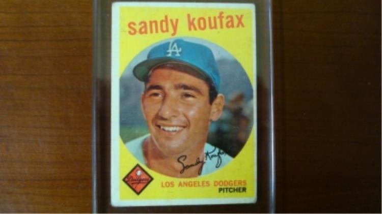 1959 TOPPS Sandy Koufax Card VG