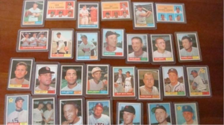 1961 TOPPS (28) Baseball Cards Some Minor Stars