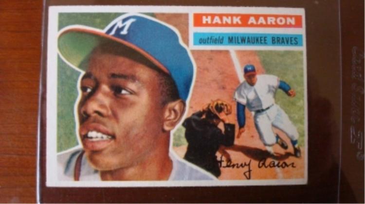 1956 TOPPS Hank Aaron Card EX-M