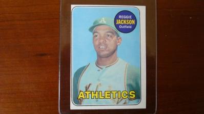 1969 TOPPS Reggie Jackson Rookie Card EX-M