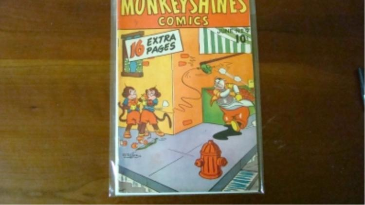 1940's Monkey Shines Comics $0.10 wear tear