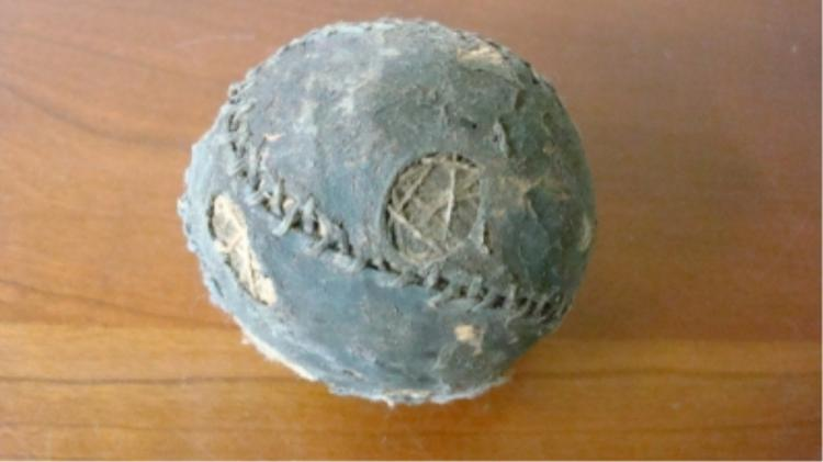 Extremely Early 'Hand Made' Baseball some damage