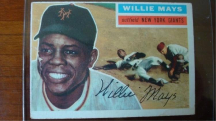 1956 TOPPS Willie Mays Good/Crease