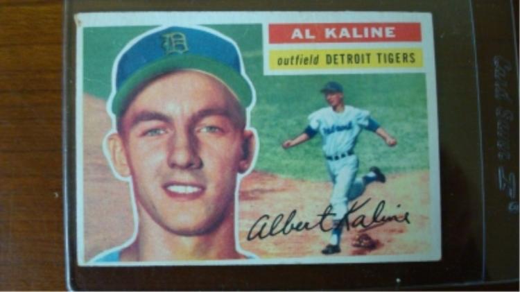 1956 TOPPS Al Kaline VG+ 2 light Creases