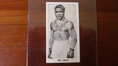 Knock Out Razor Blades Joe Louis Card