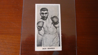 Knock Out Razor Blades Jack Dempsey Card