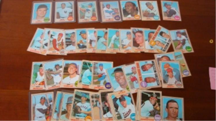 TOPPS 1968 (~40) Baseball Cards EXM or Better