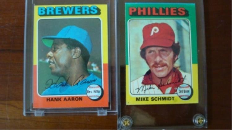 1975 TOPPS Aaron, Schmidt, Cards EX+