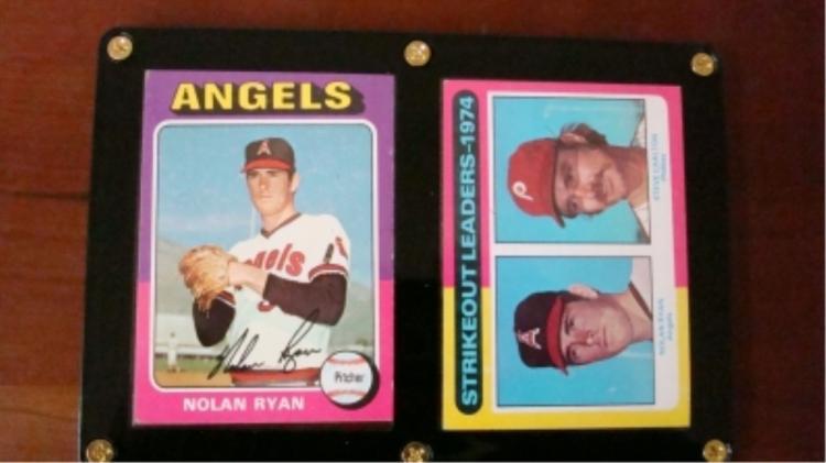 1975 TOPPS (2) Nolan Ryans EX+ good centering