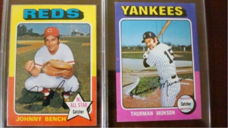 1975 TOPPS Munson, Bench Superstar Cards