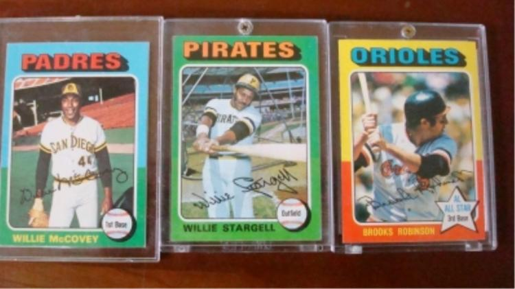 1975 TOPPS 3 Hall of Famer's