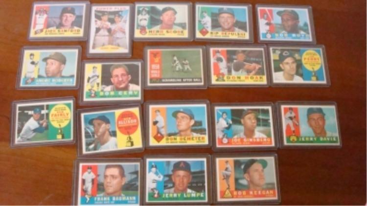 1960 TOPPS Baseball Cards Several Minor Stars EXM