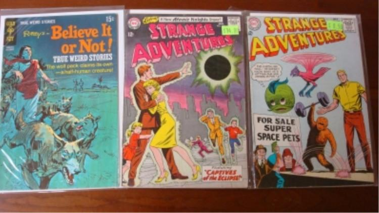 2 Strange Adventure & 1 Believe It Or Not Comics