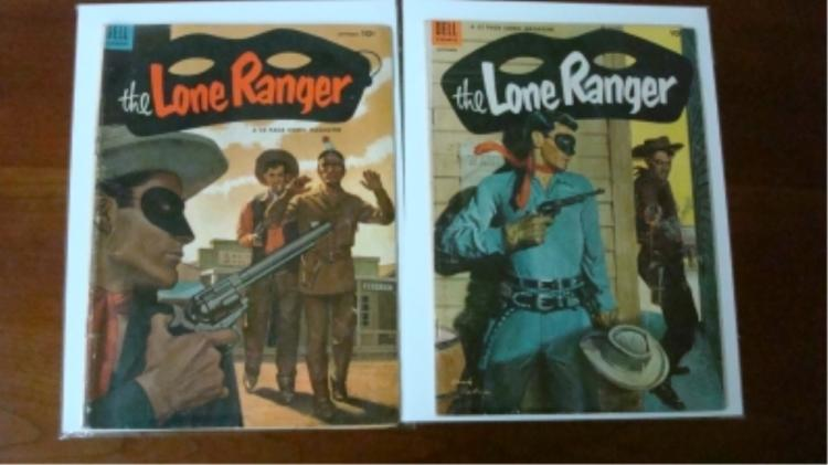 2 Lone Ranger Comic $0.10 some wear