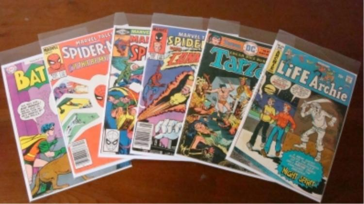 6 Super Hero's, Archie, Tarzan Comics