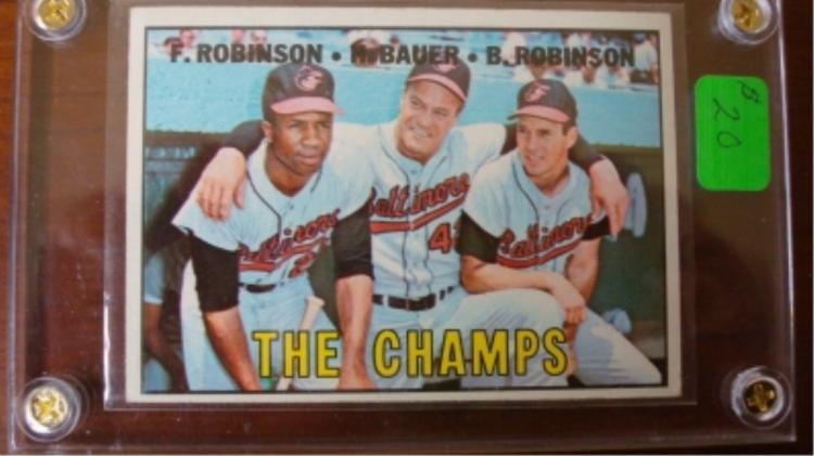 1967 TOPPS #1 Card Robinson, Bauer, Robinson