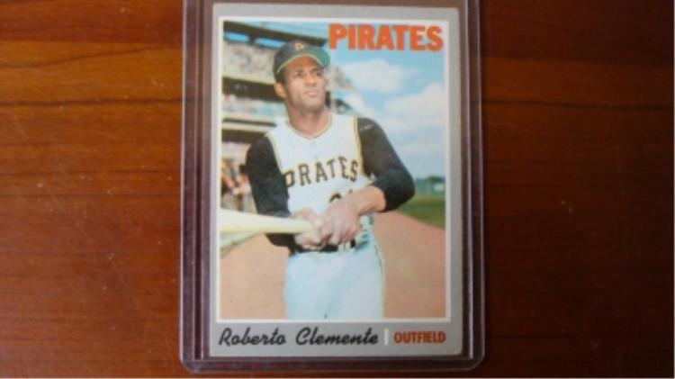 1970 TOPPS Roberto Clemente Card VG-EX