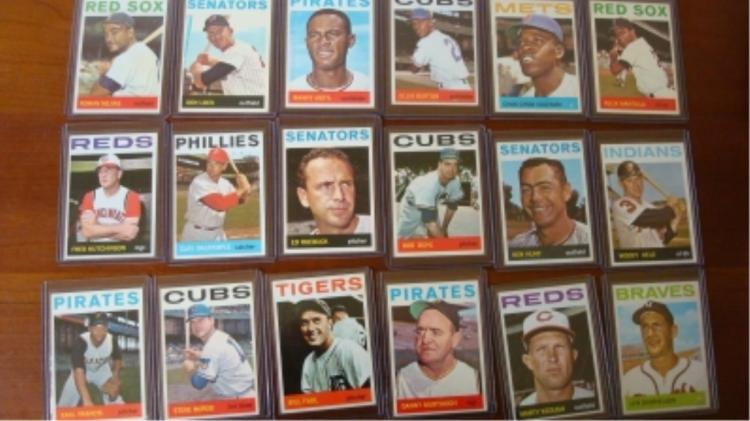 1964 TOPPS (18) Baseball Cards NM+
