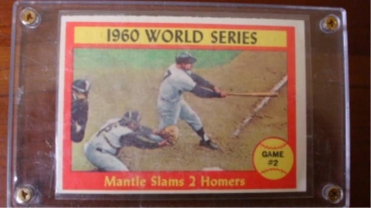 1961 TOPPS 1960 World Series Mantle Slams 2 Homers