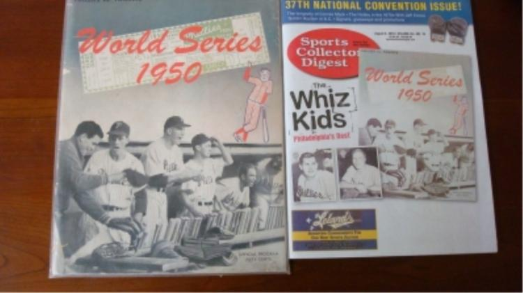 1950 World Series Programs