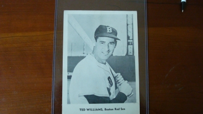 Ball Park or Mail-In Photo Ted Williams 1950's