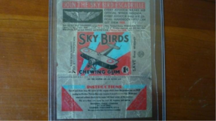 1930's Sky Bird Gum Wrapper