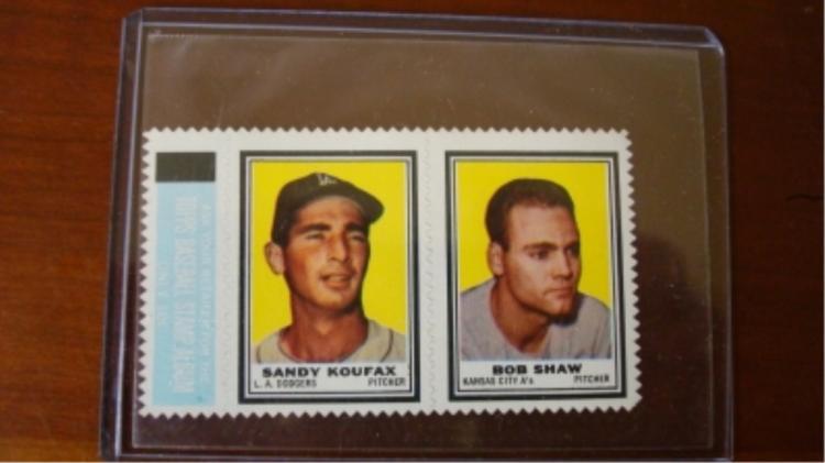 1962 TOPPS Inserts Sandy Koufax Bob Shaw
