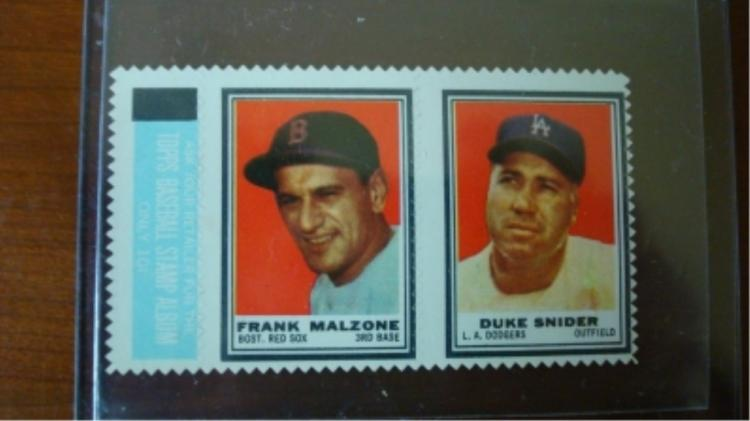 1962 TOPP Insert Frank Malzone Duke Snider