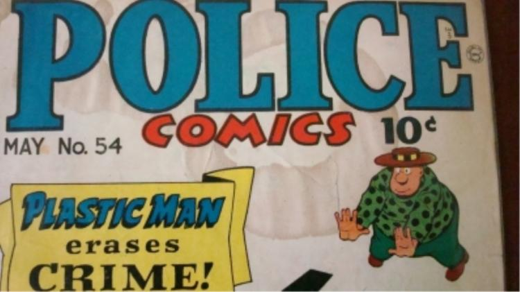 1940's Police Comics Staining & Wear