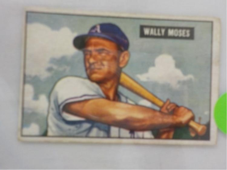 1951 Bowman High #261 Wally Moses Card