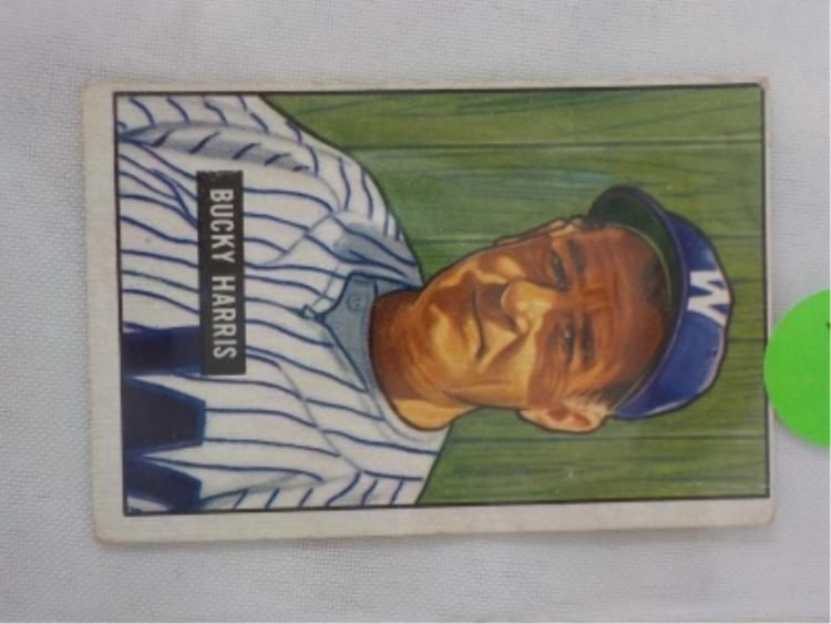 1951 Bowman High #275 Bucky Harris Card