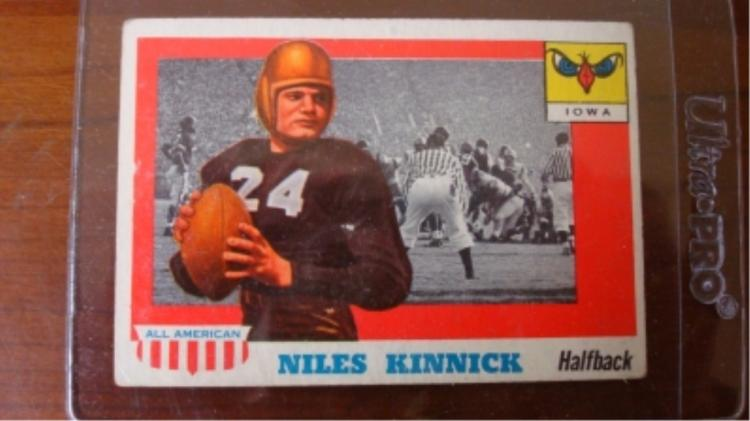 1955 Niles Kinnick Football Card All American