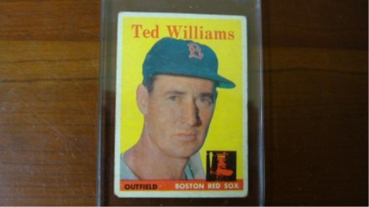 1958 TOPPS #1 Ted Williams Card VG EdgeCorner Wear