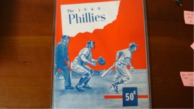 1949 Phillies Program