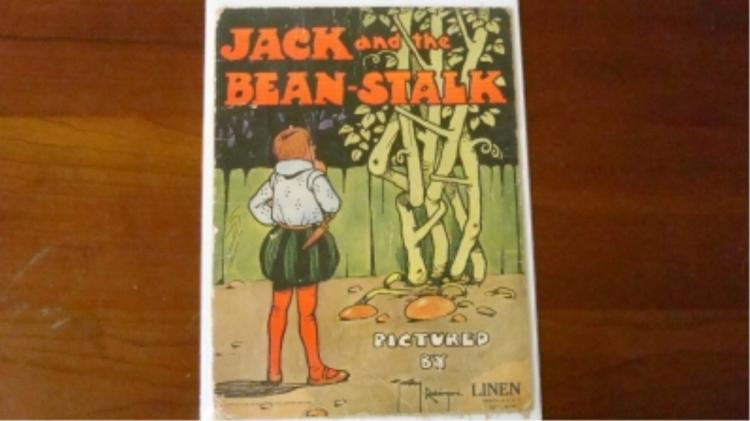 1916 Jack and the Bean-Stalk Comic Linen