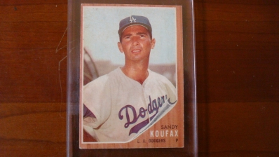 1962 TOPPS Sandy Koufax Card Poor Centering