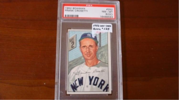 1952 Bowman Last Card PSA 8 (OC) Crosetti