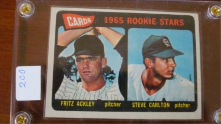 1965 TOPPS Steve Carlton Rookie Cards Ex-Mint