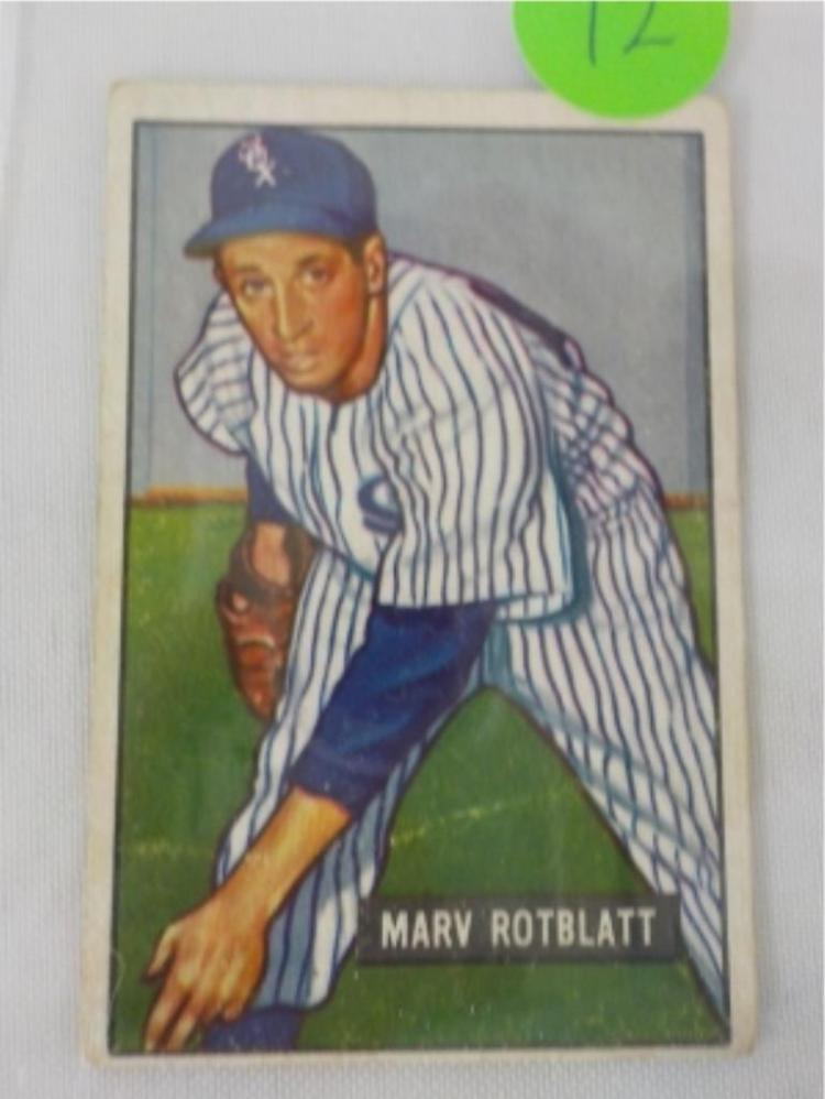 1951 Bowman High #303 Marv Rotblatt Card