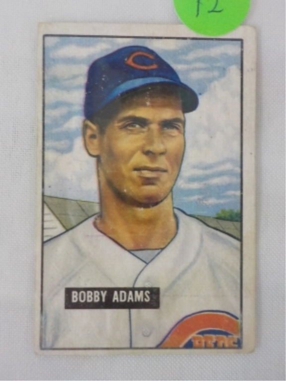 1951 Bowman High #288 Bobby Adams Card