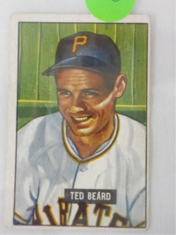 1951 Bowman High #308 Ted Beard Card