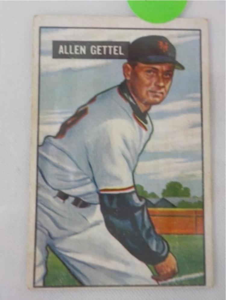 1951 Bowman High #304 Allen Gettel Card