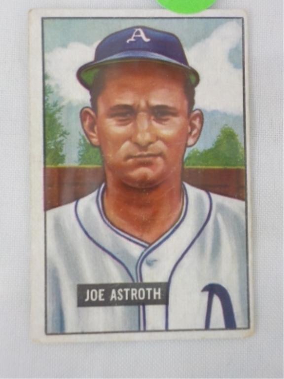 1951 Bowman High #298 Joe Astroth Card