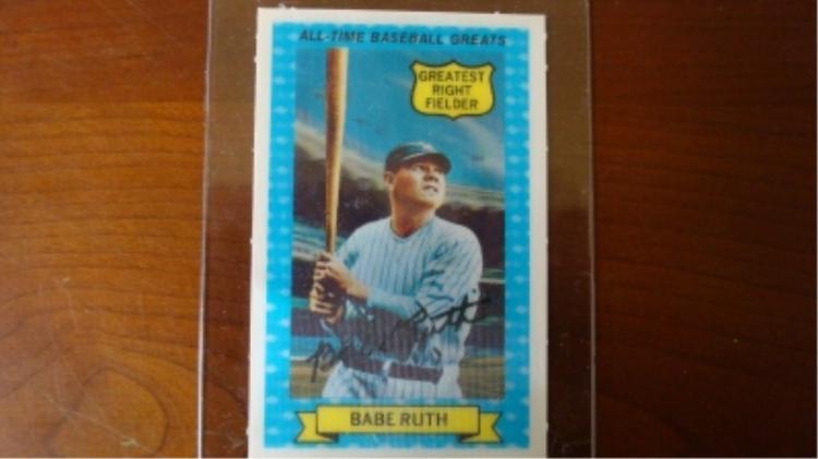 Kellogg's 3D Babe Ruth Card 1970