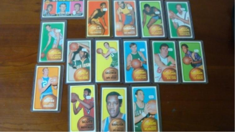 1970-1971 (15) TOPPS Large Basketball Cards
