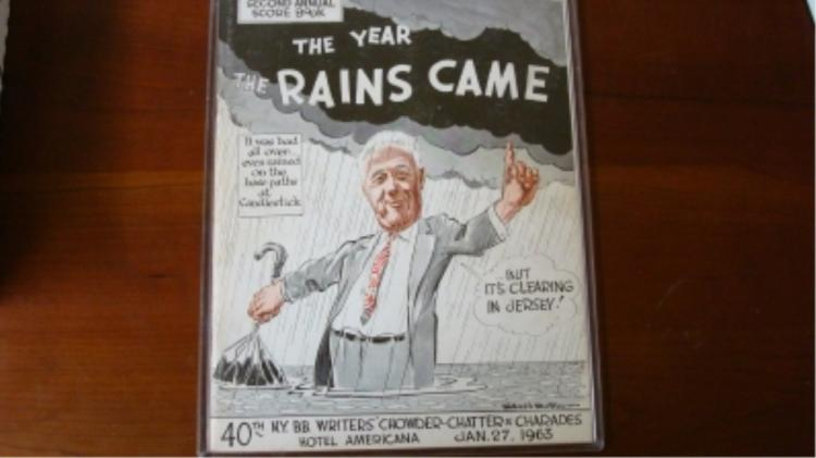 Baseball Writer's Program 1963 Rains Game