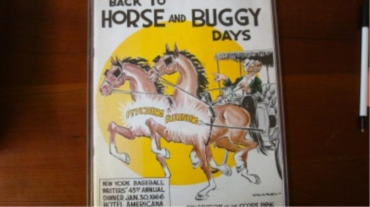 Baseball Writer's Program 1966 Horse & Buggy Days