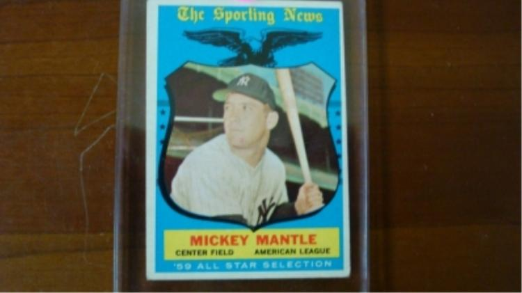 1959 TOPPS Mickey Mantle All-Star Card